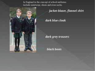 jacket-blazer, flannel shirt dark grey trousers dark blue cloak black boots I
