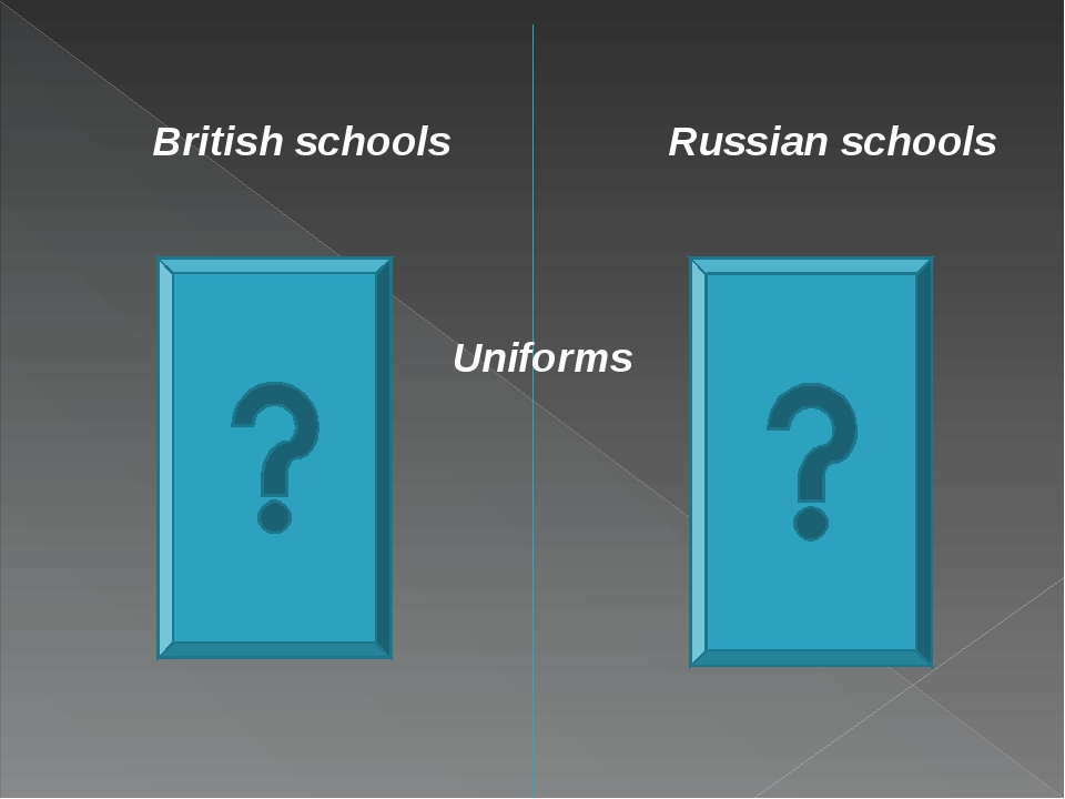 British schools Russian schools Uniforms