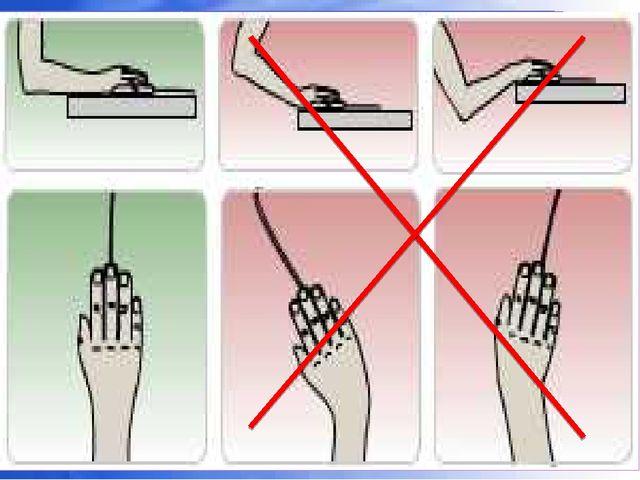 При работе с клавиатурой угол сгиба руки в локте должен быть прямым (90 граду...