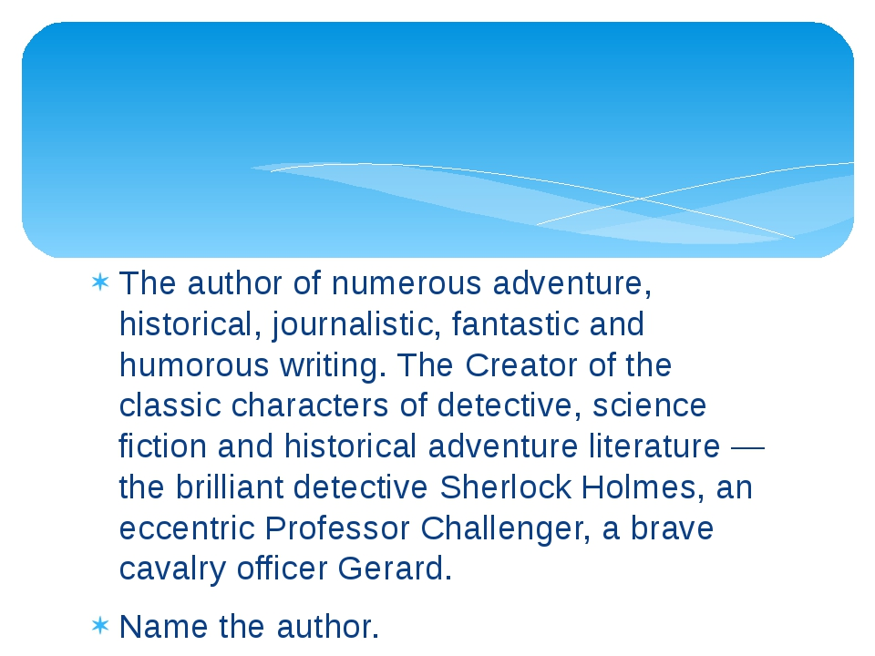 The author of numerous adventure, historical, journalistic, fantastic and hum...