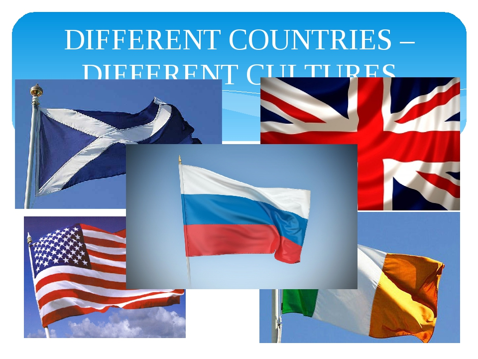 DIFFERENT COUNTRIES – DIFFERENT CULTURES