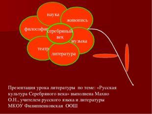 Презентация урока литературы по теме: «Русская культура Серебряного века» вып