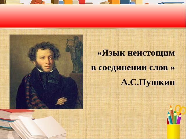 «Язык неистощим в соединении слов » А.С.Пушкин