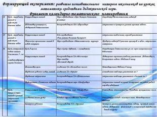 Условия социализации Формирующий эксперимент: развитие познавательного интере
