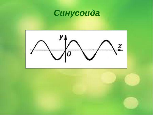 Синусоида Этот график называется синусоида. Мы пока не изучали этот график на...