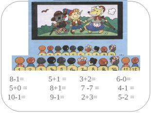 8-1= 5+1= 3+2= 6-0= 5+0= 8+1= 7 -7=