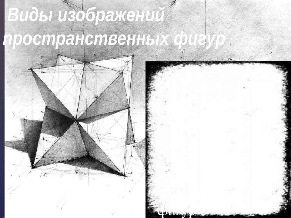 Виды изображений пространственных фигур Введение понятия параллельной проекц...