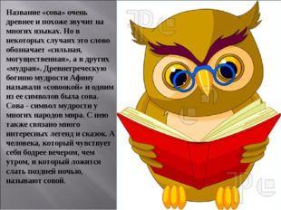 Название «сова» очень древнее и похоже звучит на многих языках. Но в некоторы