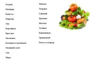 Огурец Помидор Капуста Морковь Лук Картофель Круглые Овальные Большие и мален
