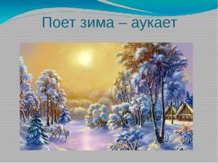 Поет зима – аукает