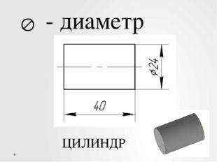  - диаметр ЦИЛИНДР