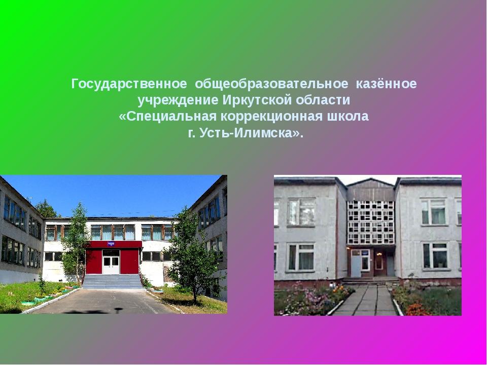 Государственное общеобразовательное казённое учреждение Иркутской области «С...