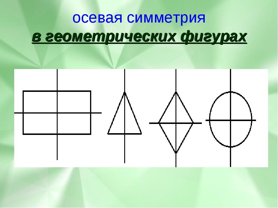 осевая симметрия в геометрических фигурах