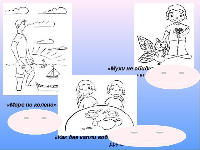 «Море по колено» — ничто не страшно. «Мухи не обидит» — кроткий человек. «Как...