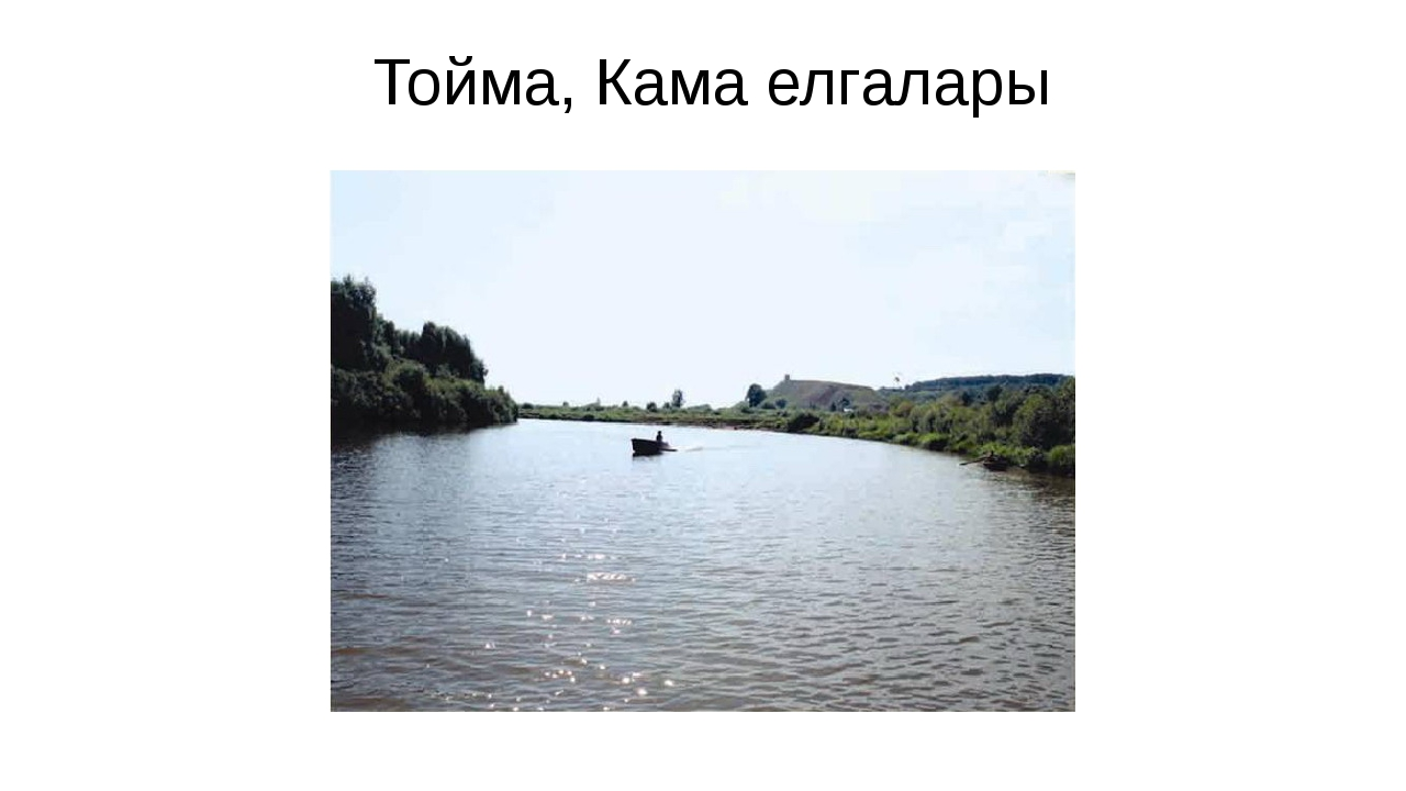Тойма, Кама елгалары