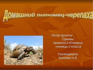 Автор проекта: Гурьевы Арианна и Юлианна, ученицы 2 класса Руководитель: Конн