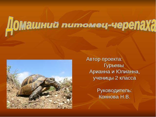 Автор проекта: Гурьевы Арианна и Юлианна, ученицы 2 класса Руководитель: Конн...