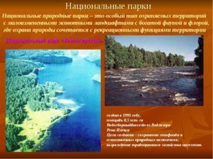 Национальные парки Национальные природные парки – это особый тип охраняемых т