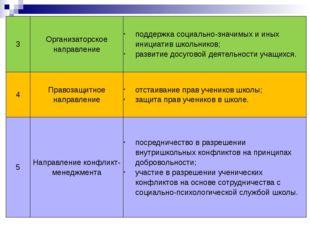 3 Организаторское направление поддержка социально-значимых и иных инициатив ш