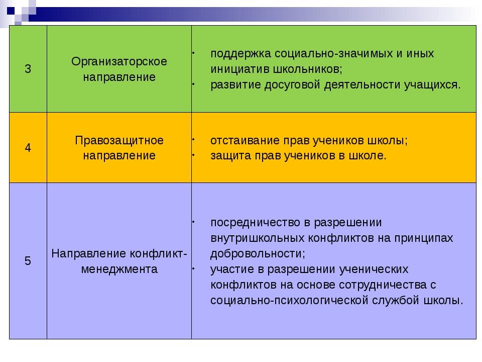 3 Организаторское направление поддержка социально-значимых и иных инициатив ш...
