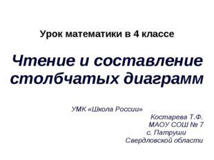 Урок математики в 4 классе Чтение и составление столбчатых диаграмм УМК «Школ