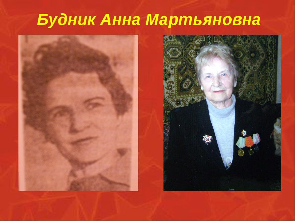 Будник Анна Мартьяновна