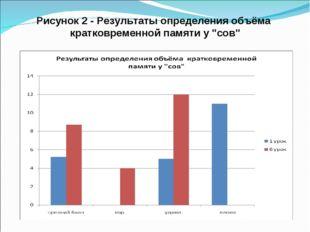 """Рисунок 2 - Результаты определения объёма кратковременной памяти у """"сов"""""""
