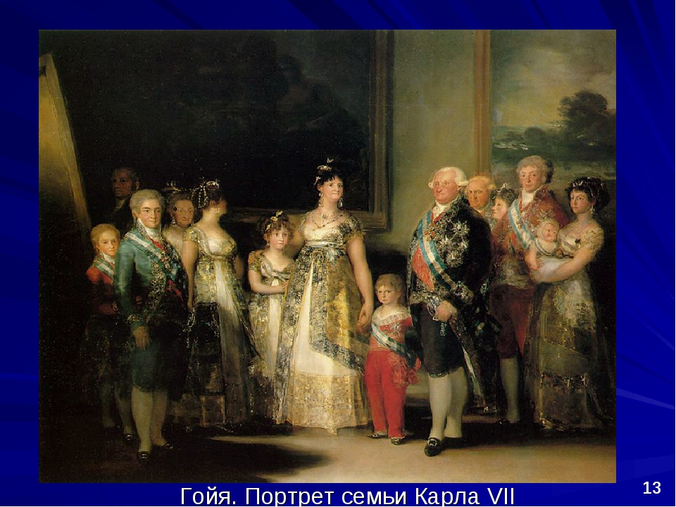 Гойя. Портрет семьи Карла VII *