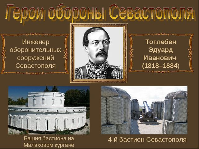 Инженер оборонительных сооружений Севастополя 4-й бастион Севастополя Башня б...