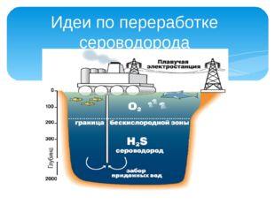 Идеи по переработке сероводорода