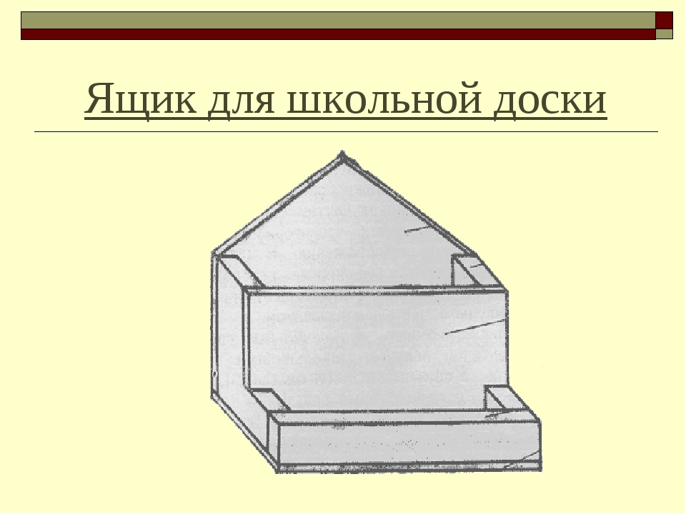 Ящик для школьной доски
