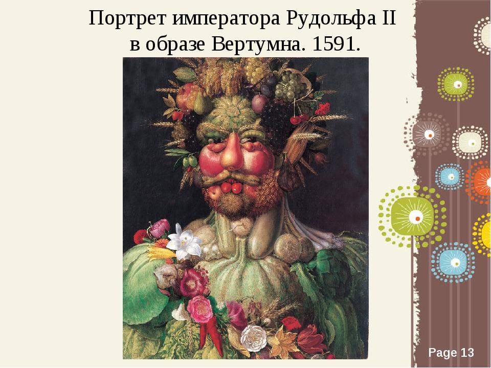 Портрет императора Рудольфа II в образе Вертумна. 1591. Page *