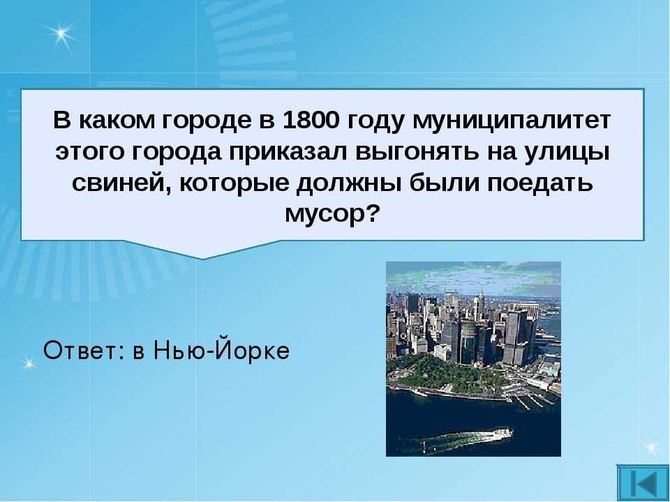 В каком городе в 1800 году муниципалитет этого города приказал выгонять на ул...