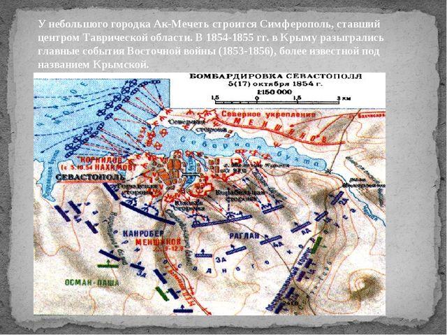 У небольшого городка Ак-Мечеть строится Симферополь, ставший центром Тавричес...