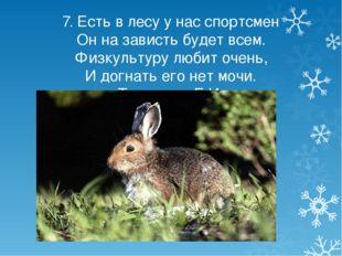 7. Есть в лесу у нас спортсмен Он на зависть будет всем. Физкультуру любит оч