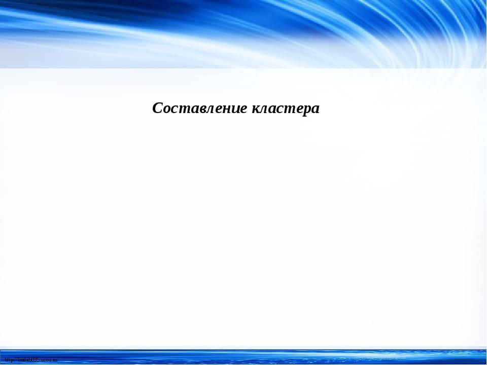 Составление кластера http://linda6035.ucoz.ru/