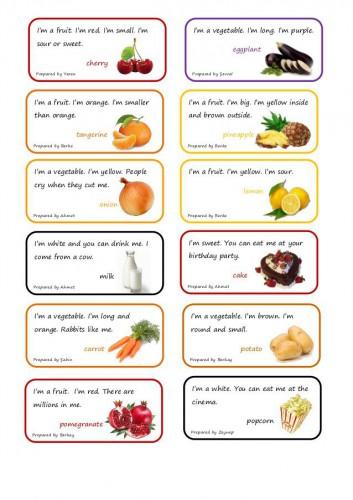 Стихи про овощи на английском языке