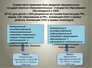 Нормативно-правовая база введения федеральных государственных образовательных