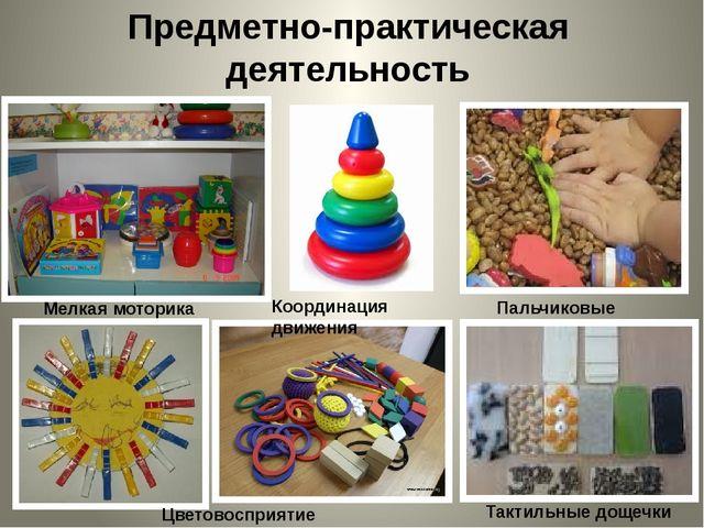 Предметно-практическая деятельность Мелкая моторика Цветовосприятие Координац...