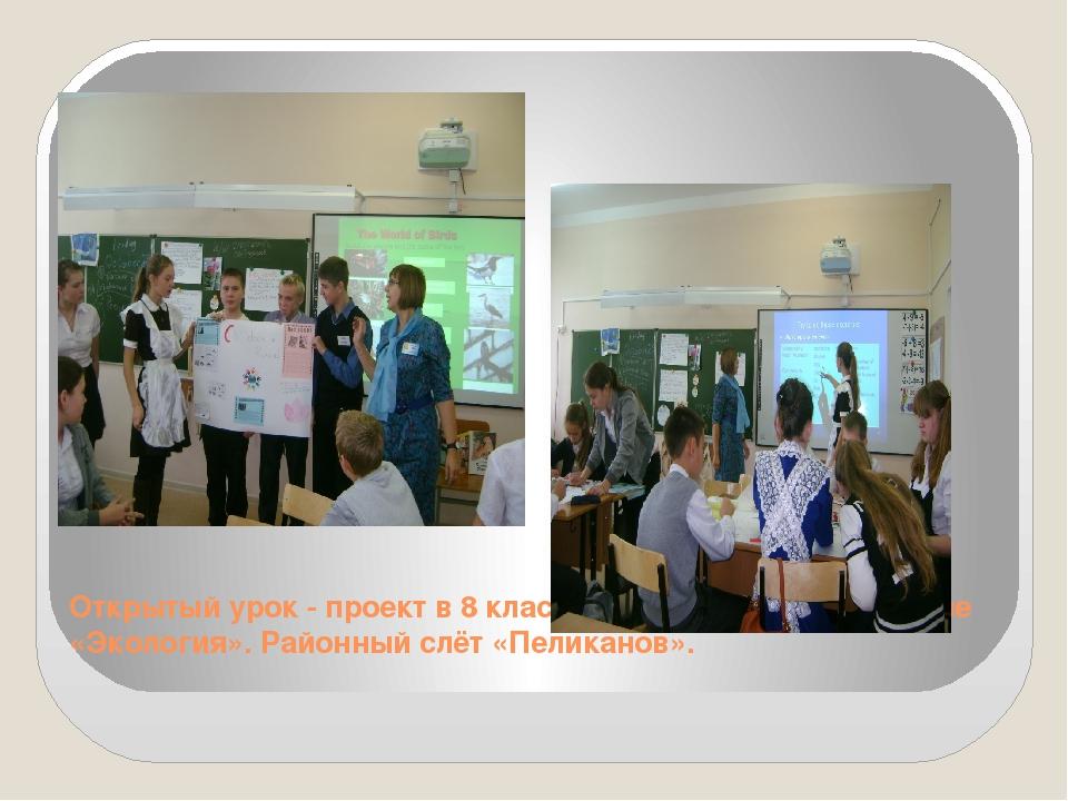 Открытый урок - проект в 8 классе. МБОУ СОШ №20 по теме «Экология». Районный...