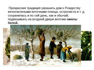 Прекрасная традиция украшать дом к Рождеству вечнозелеными веточками плюща,