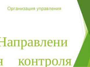 Организация управления Направления контроля внеурочной деятельности определяю