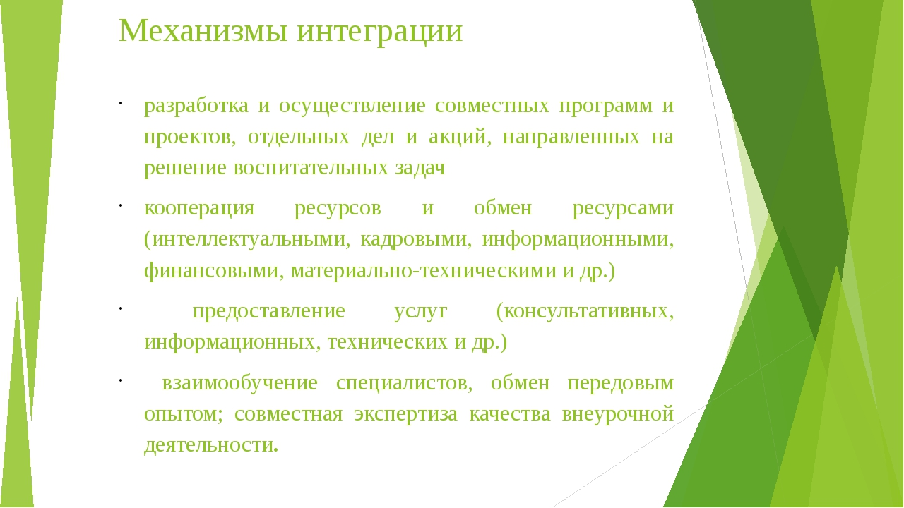 Механизмы интеграции разработка и осуществление совместных программ и проекто...