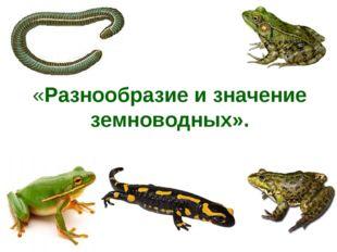 «Разнообразие и значение земноводных».