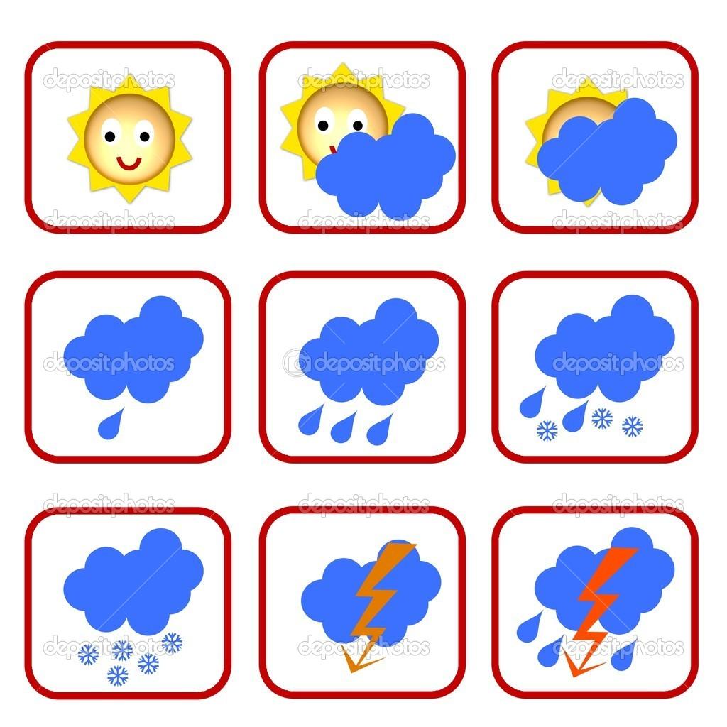 Картинки условные обозначения для календаря погоды