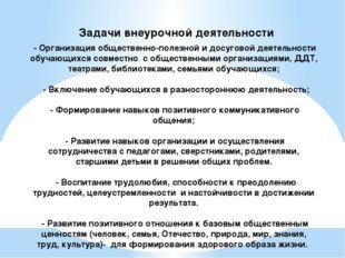 - Организация общественно-полезной и досуговой деятельности обучающихся совм