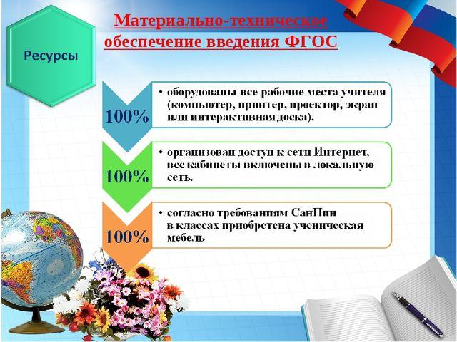 Материально-техническое обеспечение введения ФГОС