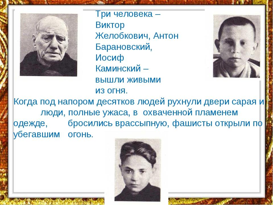 Три человека – Виктор Желобкович, Антон Барановский, И...