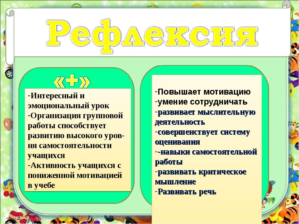 corowina.ucoz.com Интересный и эмоциональный урок Организация групповой работ...