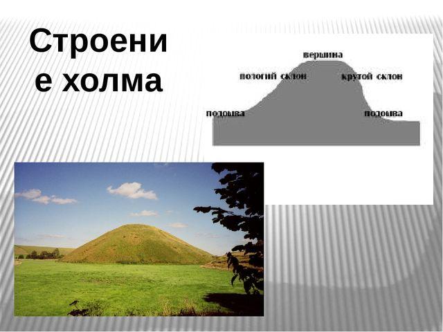 Строение холма